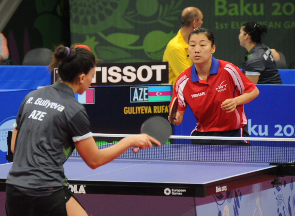 Reporting About A Table Tennis Game Live On Air